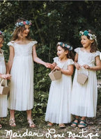 Maxi lace flower girl dress