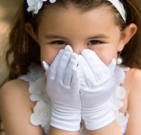 flower girl white gloves