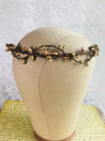 gold rustic wedding crown