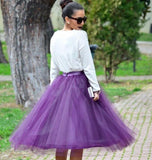Plum purple tulle skirt