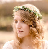 Eucalyptus flower crown