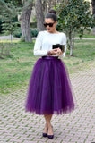 Womens Purple Tulle skirt
