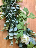 eucalyptus white rose garland