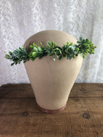 Eucalyptus flower crown wedding headpiece - maidenlaneboutique