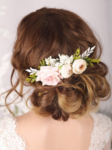 Ivory Blush Flower Headpiece