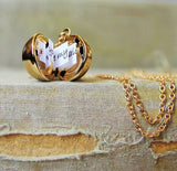Gold Message Ball Locket Necklace - maidenlaneboutique