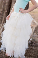 ivory flower girl tutu skirt