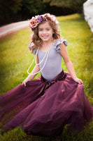 long purple tulle skirt