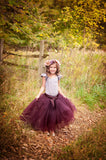 eggplant purple tulle skirt