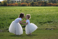 girls white tulle skirt