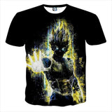 T Shirt Dragon Ball Z Vegeta Shadow