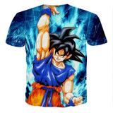 T Shirt 3D All Over Dragon Ball Z Goku Genkidama