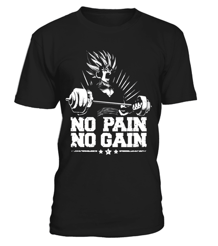 T Shirt dragon ball Z Gohan No Pain No Gain