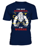 T Shirt dragon ball Z Vegeta Monster