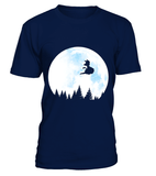 T Shirt Dragon Ball Goku Fly On The Moon