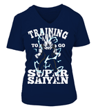 T Shirt Femme Dragon Ball Z Vegeta Training To Go Super Saiyan