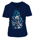 T Shirt Femme dragon ball Super Goku Blue God