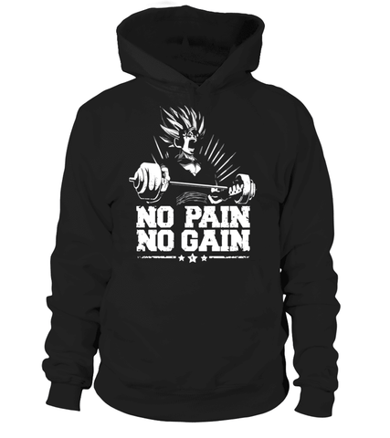 Pull à capuche Dragon Ball Z No Pain No Gain