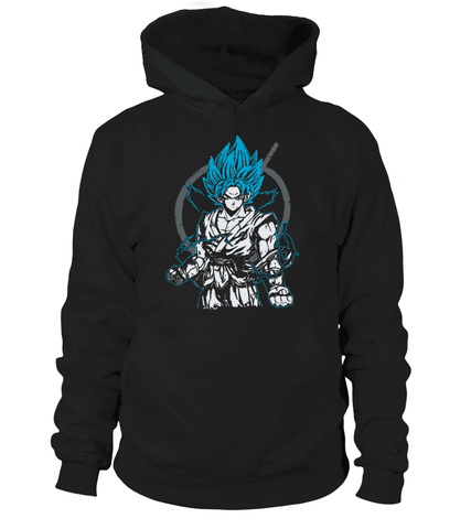 Pull à capuche Dragon Ball Super Goku Blue God
