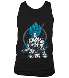 Débardeur Dragon Ball Super Goku Blue God Symbole Whis