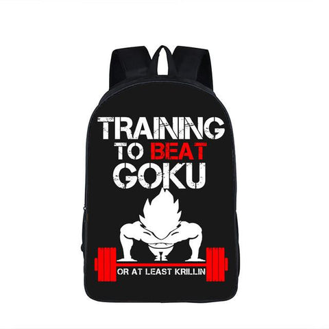 Sac à dos Dragon Ball Z Training To Beat Goku