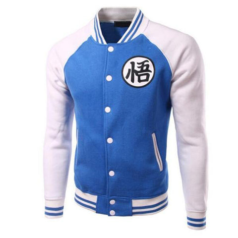 Veste Bleue Dragon Ball Z Symbôle Goku