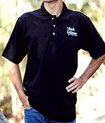Jack LaLanne Embroidered Black Polo With Pocket