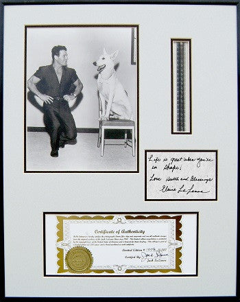 Jack LaLanne Autographed & Framed Collage
