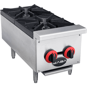 "Saba Air - 12"" (2) Gas Hotplate Cooker-SB-HP2-8517-N"