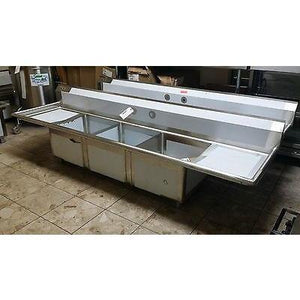Stortec - Brand New 3 Compartment Sink wit Drain Board - S1832-672016 - Maltese & Co