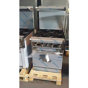 Royal - 4 Burner Stove with Oven Restaurant - Commercial  - RY-RR4-52316-N - Maltese & Co New and Used  restaurant Equipment