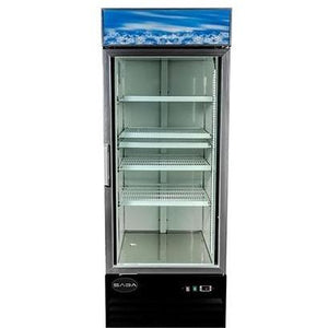 "Saba Air - 27"" (1) One Door Glass Freezer-SB-SGDM13F-72417-N"