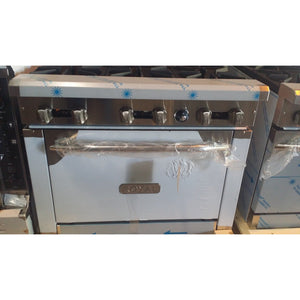 Royal - 6 Burner Stove with Oven Restaurant - Commercial  - RY-RR6-52316-N
