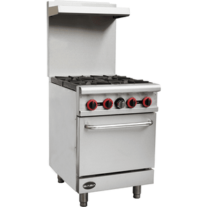 "Saba Air - 24"" Gas Range with Oven-SB-GR24-8517-N - Maltese & Co New and Used  restaurant Equipment"