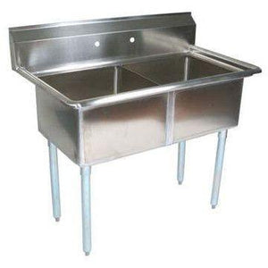 Stortec - 2 Compartment Sink, Restaurant Commercial - SS-S1820-92216-N - Maltese & Co New and Used  restaurant Equipment