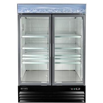 Saba Air - (2) Two Glass Swing Door Freezer-SB-SGDM45F-72417-N - Maltese & Co New and Used  restaurant Equipment