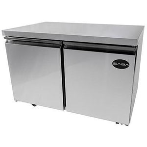 "Saba Air - 48"" Two Door Under Counter Freezer-SB-STUC48F-8117-N"