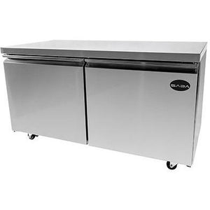 "Saba Air - 60"" Two Door Under Counter Cooler-SB-STUC60R-8117-N"