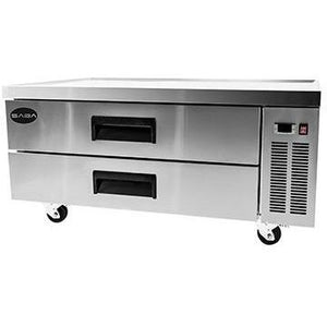 "Saba Air - 52"" (2) Two Drawer Chef Base Cooler-SB-SCB52-8117-N"