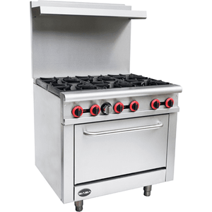 "Saba Air - 36"" Gas Range with Oven-SB-GR36-8517-N"