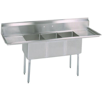 Stortec - Brand New 3 Compartment Sink wit Drain Board - S1832-672016