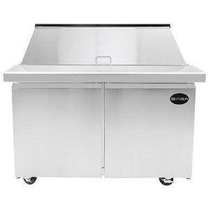 "Saba Air - (2) Two Door 48"" Mega Prep Table with Pans-SB-SPS4818M-72817-N"