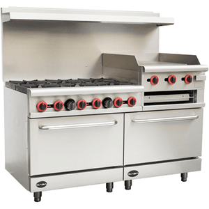 "Saba Air - 60"" Gas Range with Double Oven-SB-GR60 , G24 , GS24-8517-N - Maltese & Co New and Used  restaurant Equipment"