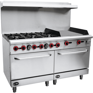 "Saba Air - 60"" Gas Range with Double Oven-SB-GR60 , G24 , GS24-8517-N"