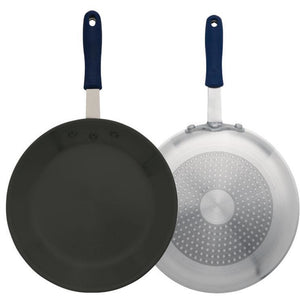 "Winco - AFPI-8NH - 8"" Induction Ready Alu Fry Pan, w/ Stainless Steel Bottom, w/Sleeve, Non-stick - Cookware - Maltese & Co New and Used  restaurant Equipment"