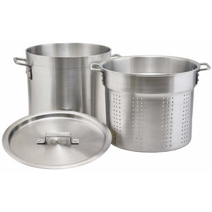 Winco - ALDB-12S - 12 qt Alu. Pasta Cooker w/Cover - Cookware - Maltese & Co New and Used  restaurant Equipment