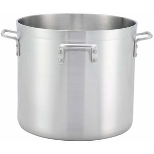 Winco - ALHP-120H - 120t Alu Stock Pot w/4 Handles, 6mm, Precision - Cookware - Maltese & Co New and Used  restaurant Equipment