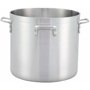 Winco - ALHP-140H - 140qt Alu Stock Pot w/4 Handles, 6mm, Precision - Cookware - Maltese & Co New and Used  restaurant Equipment