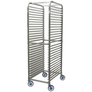 "Winco - ALRK-30BK - Sheet Pan Rack w/Brake, 30 Tier, 2"" Spacing, Aluminum - Bakeware - Maltese & Co New and Used  restaurant Equipment"