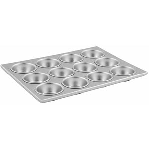 Winco - AMF-12 - 12 Cup Muffin Pan, Non-stick, 3oz, Aluminum - Bakeware - Maltese & Co New and Used  restaurant Equipment